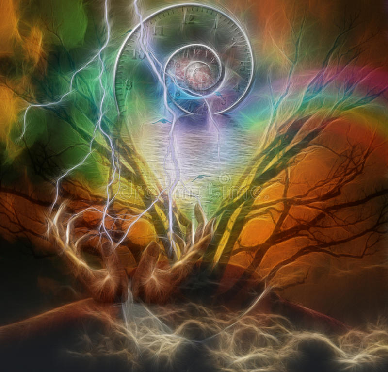 Download Surreal Artisitc Image And Time Spiral Royalty Free Stock Photography - Image: 32995857