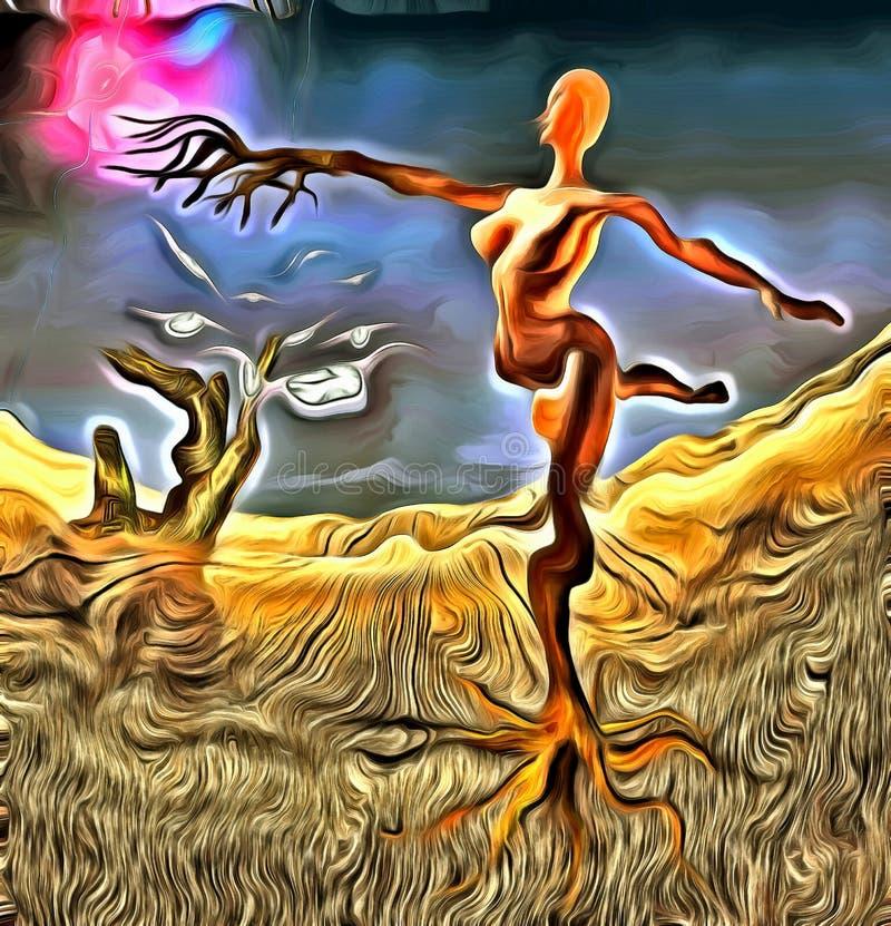 Surreal Ballerina royalty-vrije illustratie