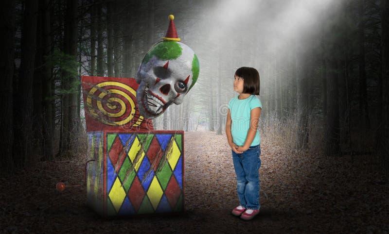Surreal Child, Girl, Horror, Toys stock photo