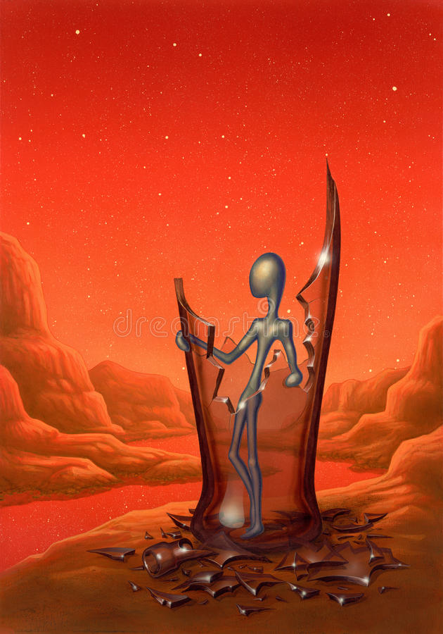 Download Surreal Decampment stock illustration. Image of alien - 24792124