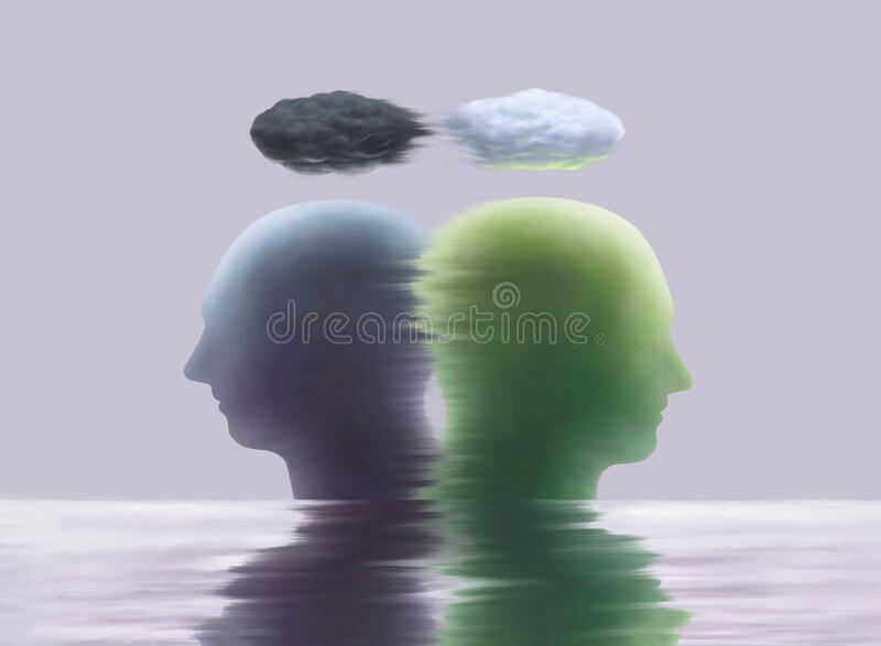 Surreal different feelings royalty free illustration