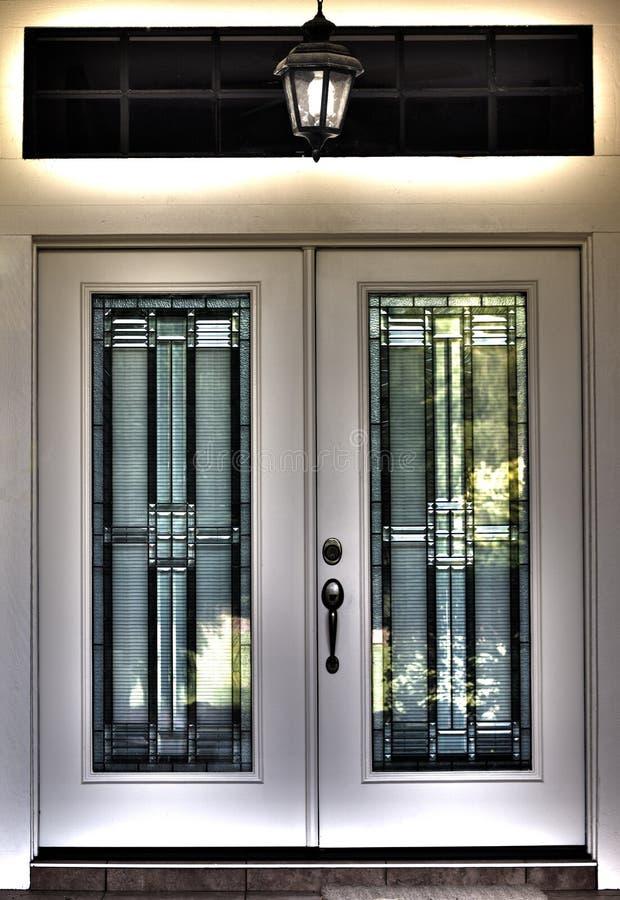 Surreal dubbele voordeur HDR stock foto