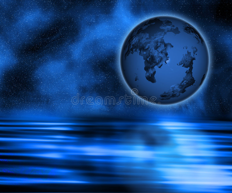 Surreal earth royalty free stock photography