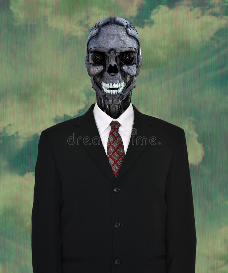 Surreal Empty Business Suit, Robot royalty free stock photo