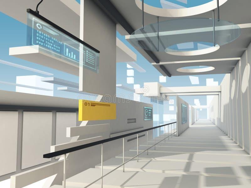 Surreal futuristische architectuur vector illustratie