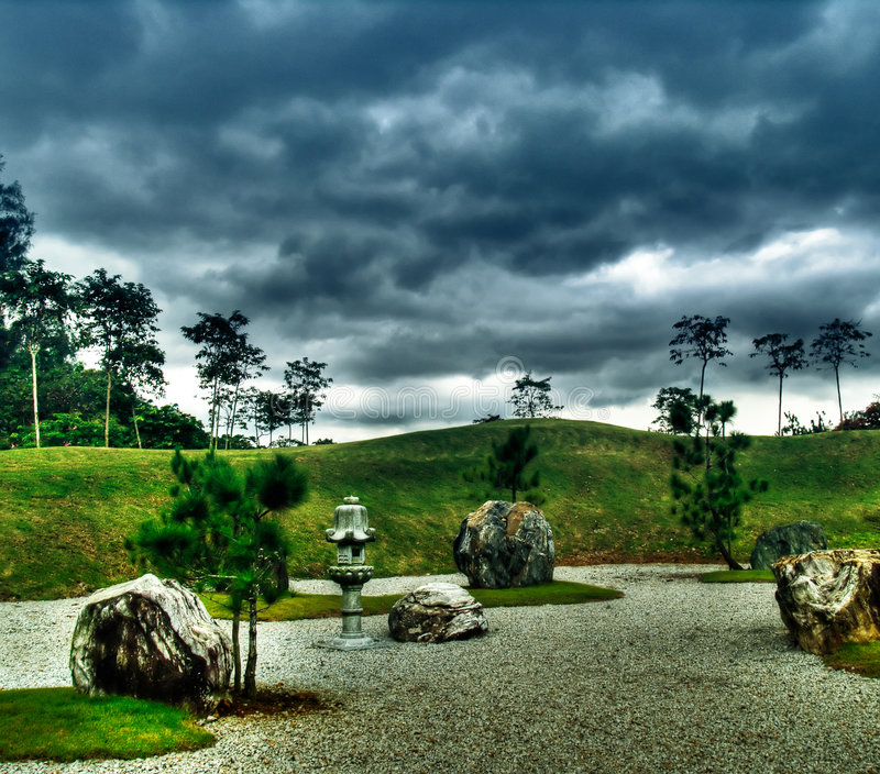 Surreal Garden stock photo