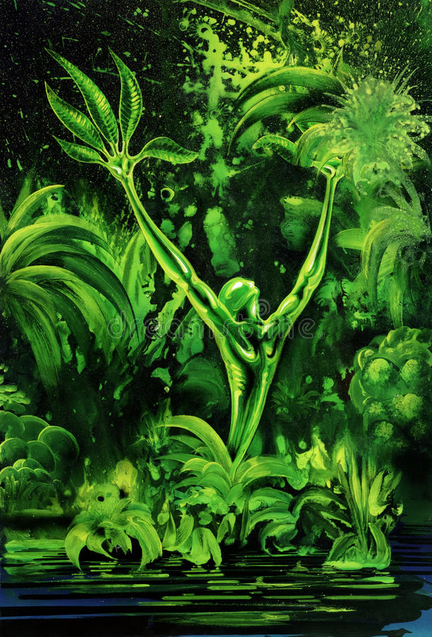Download Surreal green plant stock illustration. Illustration of illustration - 34763881