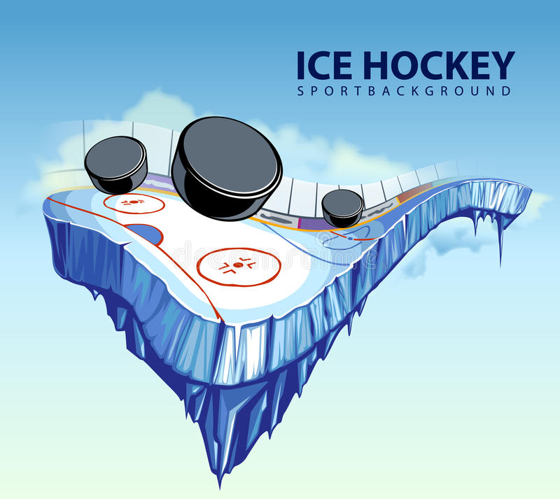 Free Surreal Hockey Rink Royalty Free Stock Photo - 22261495