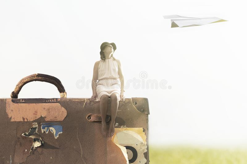 Dream and travel concept stock photography