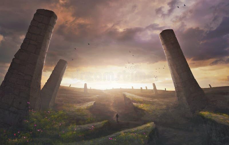 Surreal landschap royalty-vrije stock foto