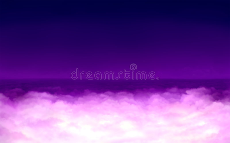 Download Surreal light in clouds stock illustration. Image of nigh - 8712601
