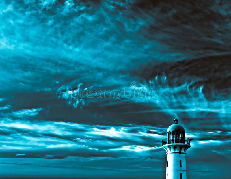 Surreal Lighthouse royalty free stock photo