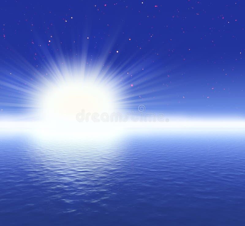 Download Surreal night stock image. Image of moon, mist, ocean - 7537267