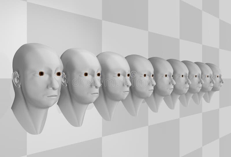 Surreal portret van mensen stock illustratie