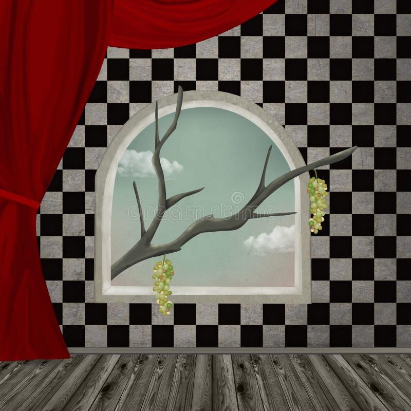 Download Surreal room stock illustration. Image of artwork, gothic - 24481856