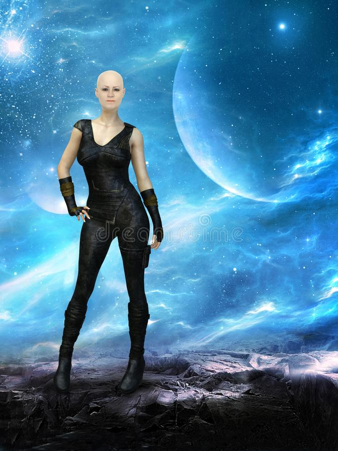 Surreal Science Fiction Fantasy Woman royalty free stock images
