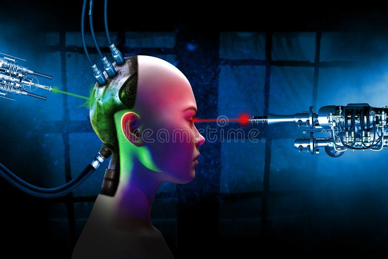 Surreal Science Fiction Robot Woman royalty free stock photo