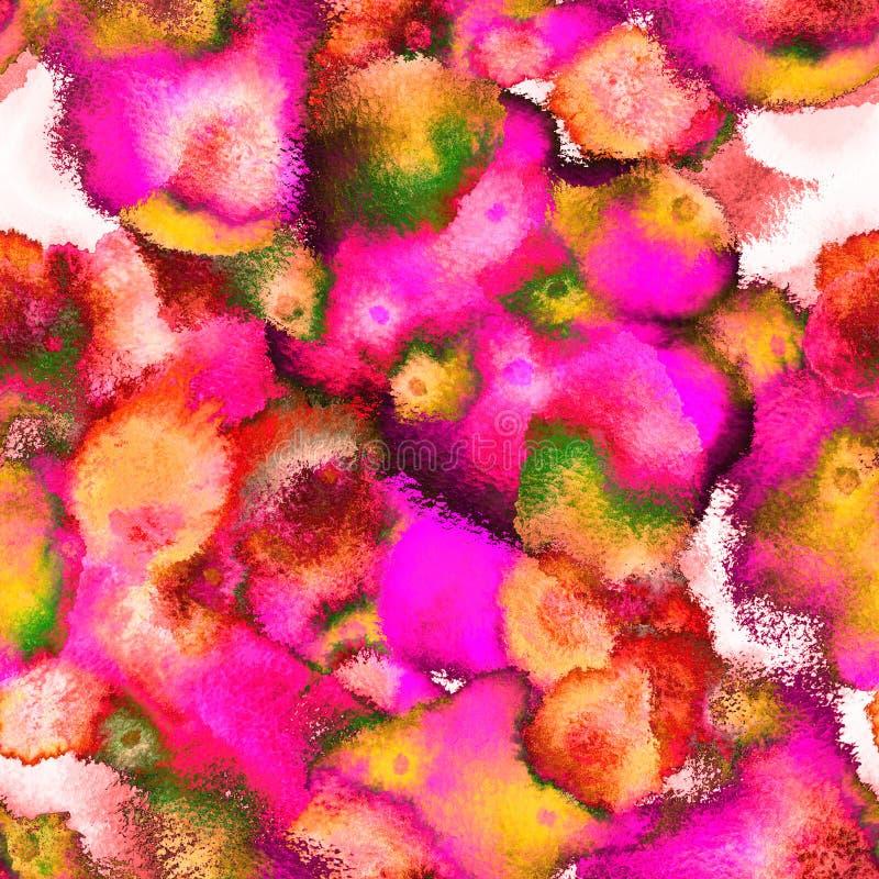 Surreal surrealistische naadloze patroon van de psychedelische borsteltextuur stock illustratie