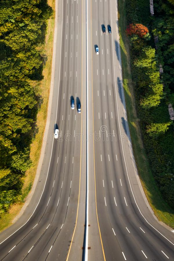 Free Surreal Vertical Panorama Of I80 Highway In New Jersey Stock Photography - 159305542