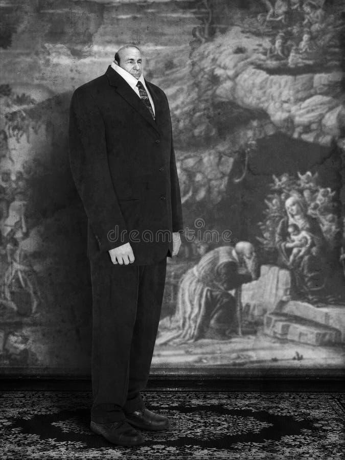 Surreal Vintage Businessman, Business, Sales, Marketing vector illustration