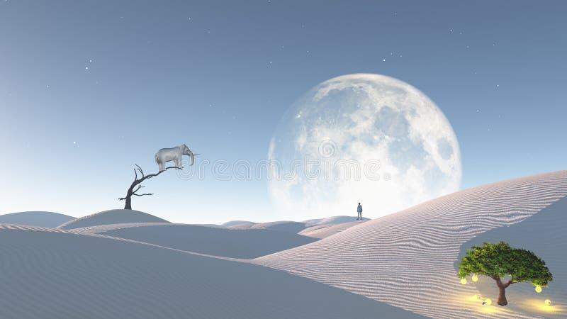 Surreal Woestijn vector illustratie