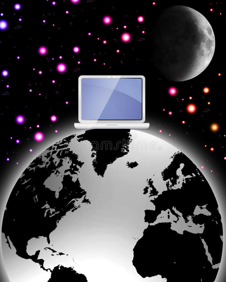 Surreal World Wide Web Vector Royalty Free Stock Photography