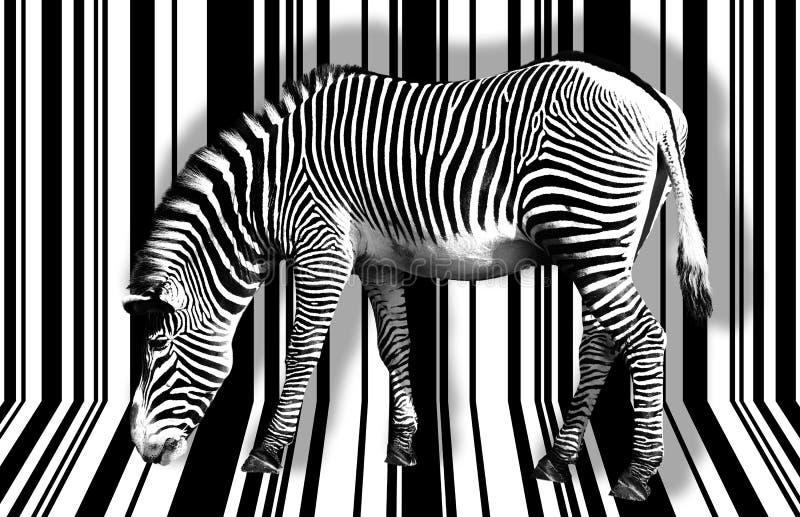 Surreal zebra royalty-vrije stock fotografie