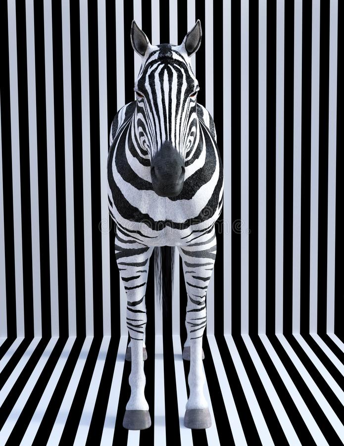 Surreal Zebra Stripes, Wildlife Animal, Nature royalty free stock photos