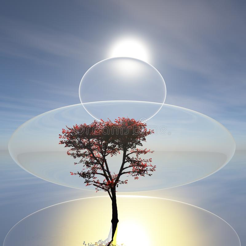 Surreal Zen Horizon royalty-vrije stock foto's