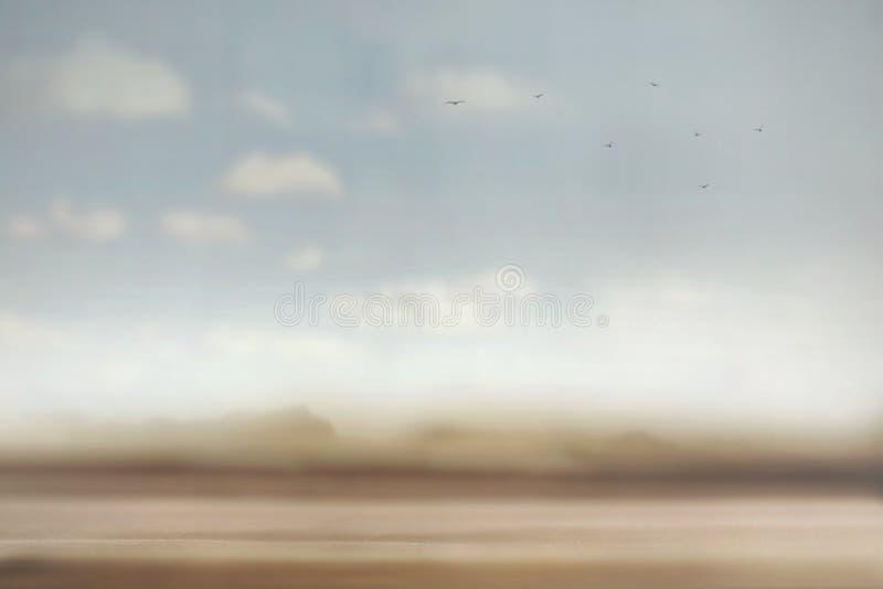 Surreale Atmosphäre einer Wüstenlandschaft stockbilder