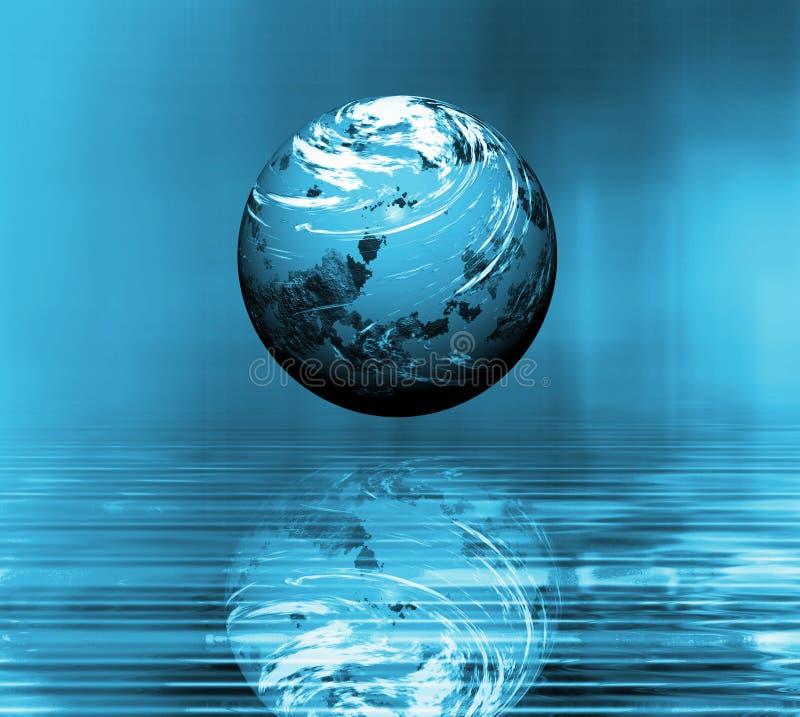 Surreale Erde lizenzfreie abbildung