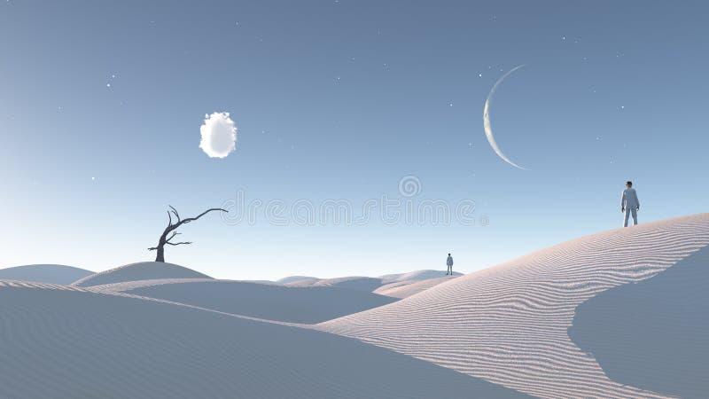 Surreale frequentierende Wüste stock abbildung