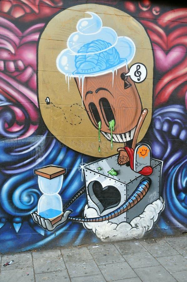 Surreale Graffiti stockfotografie