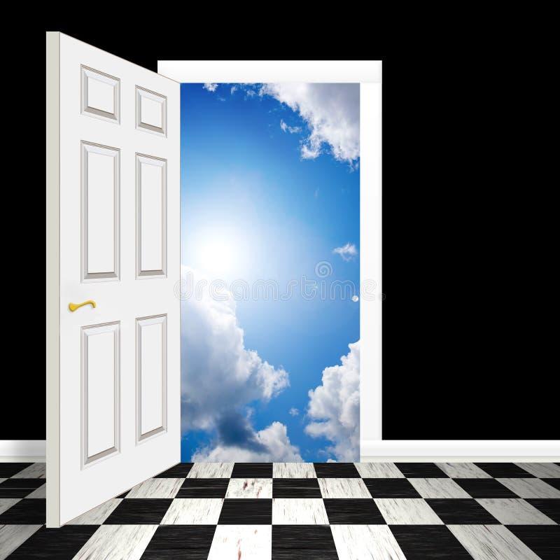 Surreale himmlische Tür stock abbildung