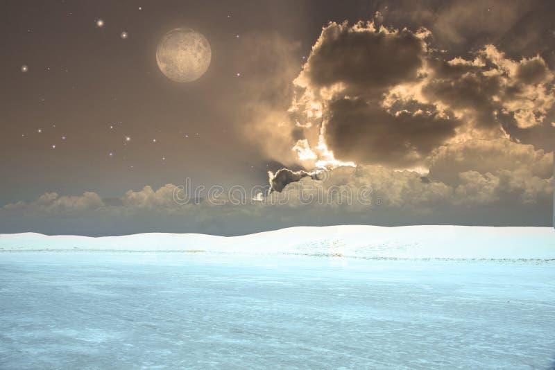 Download Surreale Landschaft stock abbildung. Illustration von himmel - 9083441