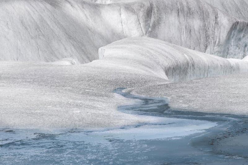 Surreale Landschaft an Mendenhall-Gletscher, Juneau, Alaska stockbilder