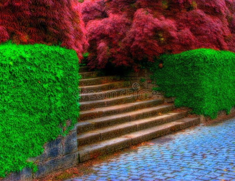 Surreale Treppen stockfotografie
