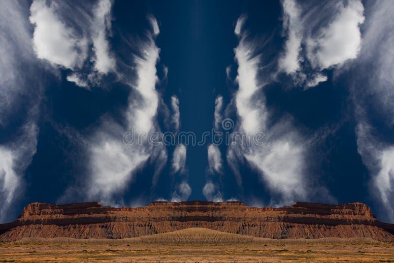 Surreale Wüste lizenzfreie stockbilder