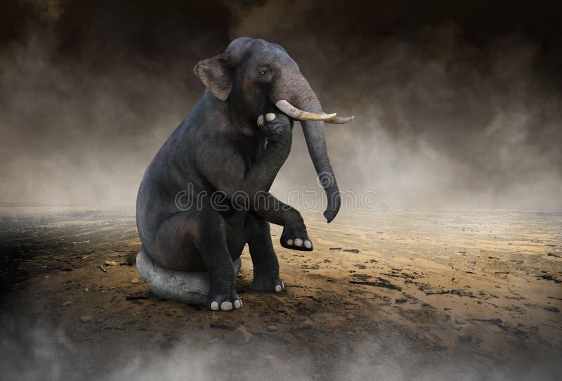 Surrealer Elefant denken, Ideen, Innovation stockfotos