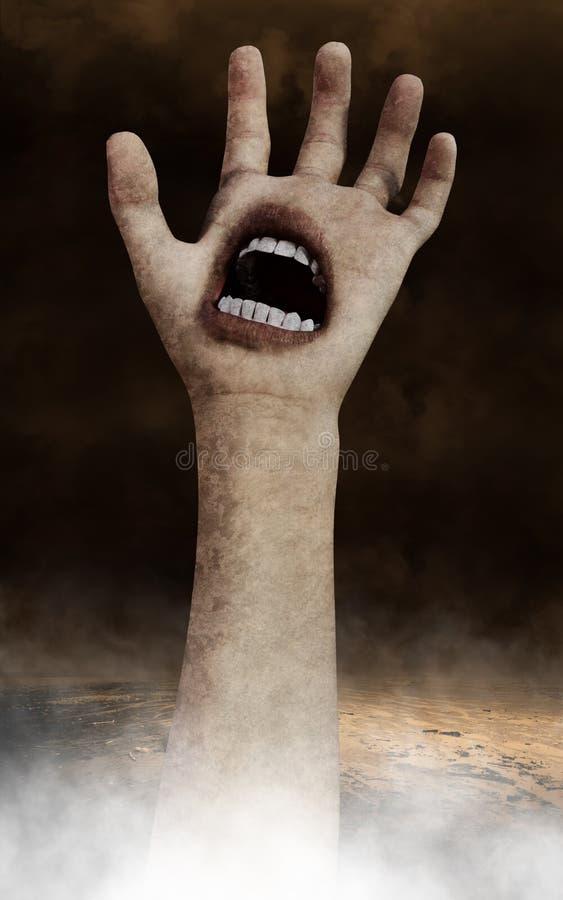 Surrealer Halloween-Handtapeten-Hintergrund lizenzfreie stockfotografie