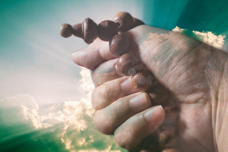 Surreales Bild der Meditation stockbilder