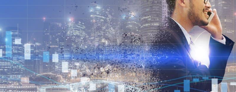 Surreales Bild - Kommunikationstechnologie-Konzept lizenzfreies stockfoto