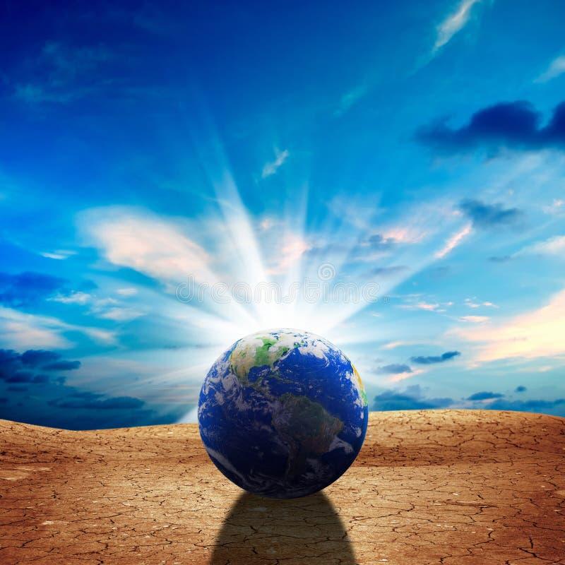 surreales Konzept der globalen Erwärmung lizenzfreie stockbilder