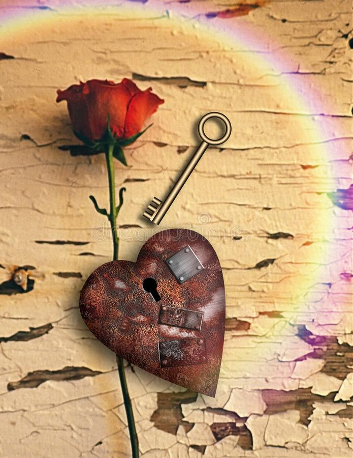 Rusted love vector illustration
