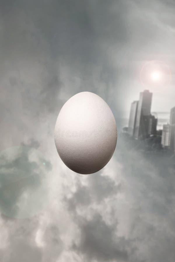 Surrealist egg royalty free stock photos