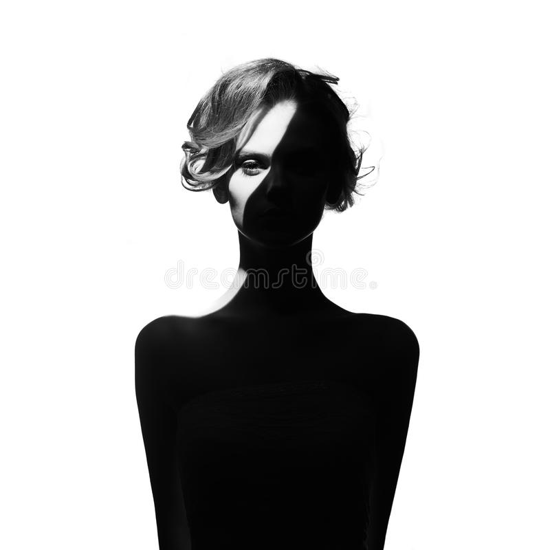 Surrealistic portrait of young lady royalty free stock photo