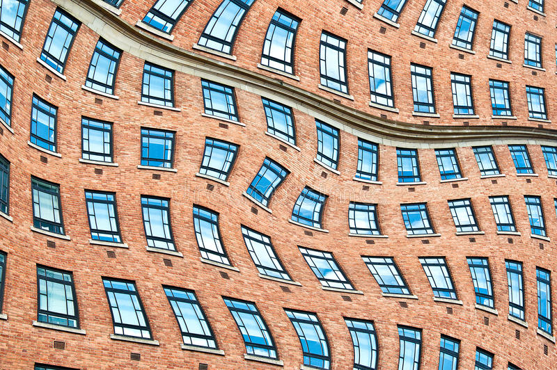 Surrealistic windows. stock photography