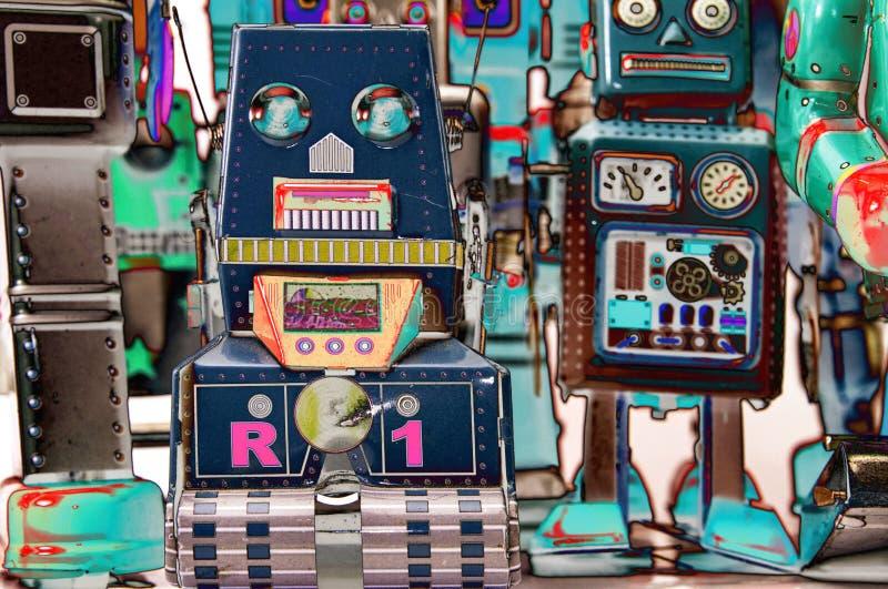 Surrealistisch robotspeelgoed royalty-vrije stock afbeelding