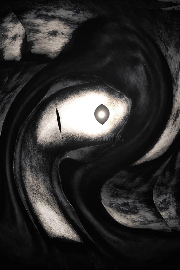 Surrealistische Kunst: Zyklope, die an seine Nut erhalten lizenzfreie abbildung