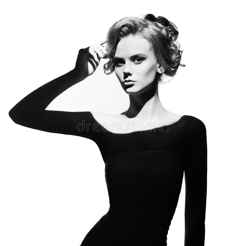 Surrealistisches Porträt junger Dame stockfoto